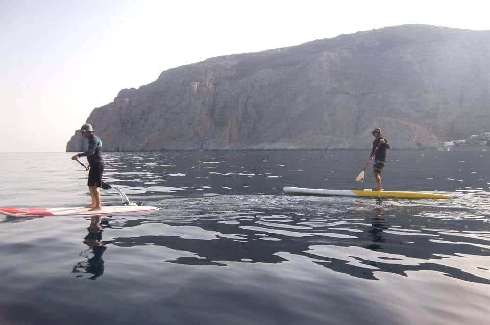 Kamari – Perissa SUP Surf Guided Trip4